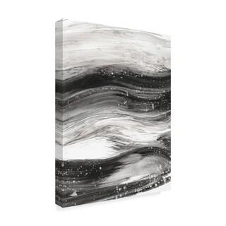 Ethan Harper 'Black Waves Ii' Canvas Art