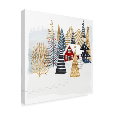 Victoria Borges 'Christmas Chalet I' Canvas Art