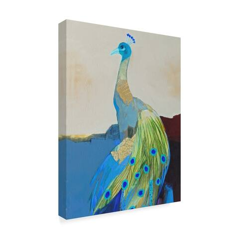 Larry Forgard 'Peacock Transition Ii' Canvas Art