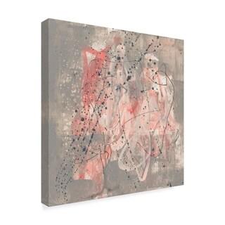 Jennifer Goldberger 'Blush Kinesis I' Canvas Art