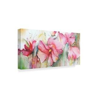Leticia Herrera 'Horizontal Flores Iii' Canvas Art