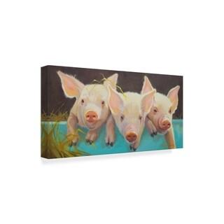 Carolyne Hawley 'Life As A Pig I' Canvas Art