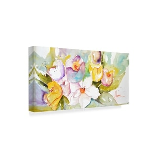 Leticia Herrera 'Horizontal Flores Iv' Canvas Art