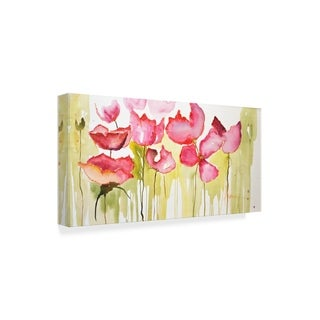 Leticia Herrera 'Horizontal Flores I' Canvas Art