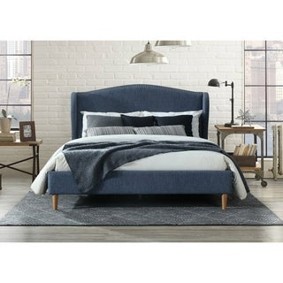 Omax Decor Darcy Upholstered Platform Bed - Queen size