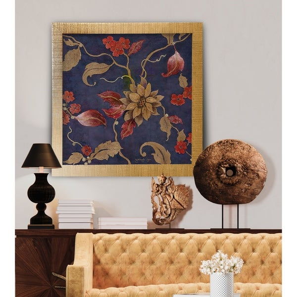 Flowers on Denim III -Framed Giclee Print