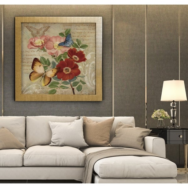 Flower Duet I -Framed Giclee Print