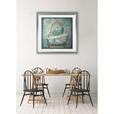 Blue Marble Seahorse -Framed Giclee Print