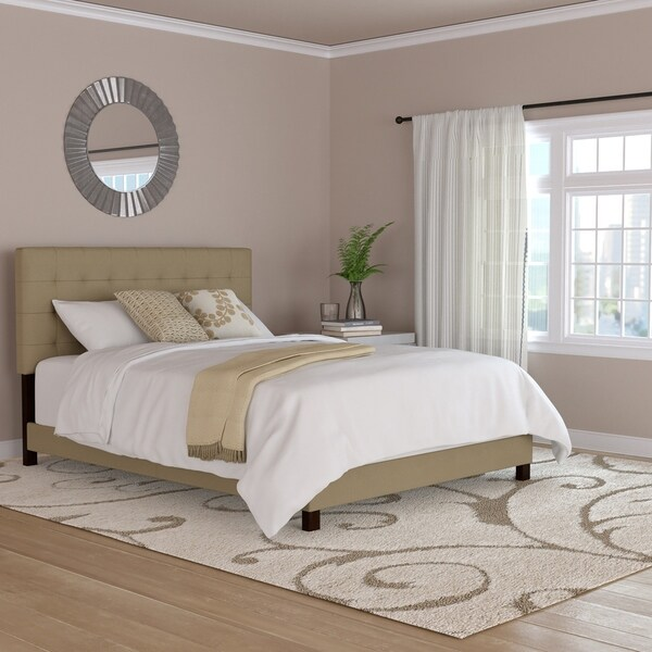 Copper Grove Dinant Brown Tufted Upholstered Queen Bed