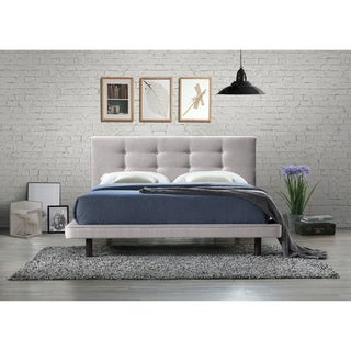 Omax Decor Nico Upholstered Platform Bed - Queen size