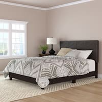 Handy Living Brown Faux Leather Upholstered Queen Bed