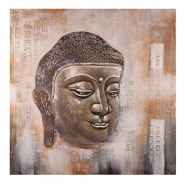 Essential Decor & Beyond 'Buddha' Oil Painting on Canvas EN18073 - Brown