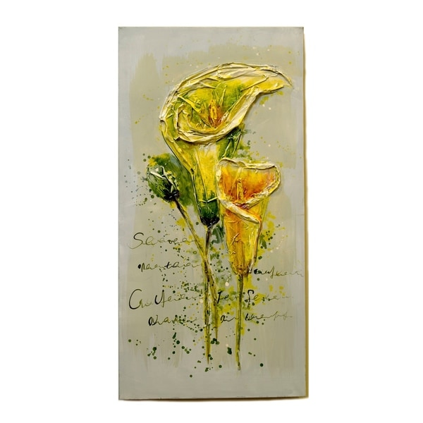 Essential Decor & Beyond 'Yellow Tulips' Oil Painting EN111906 - Multi-color