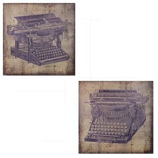 Essential Decor & Beyond 'Traditional Typewriter' 2-piece Canvas Wall Art Set
