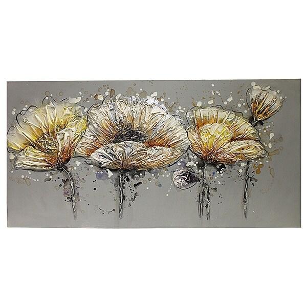 Essential Decor & Beyond 'Winter Bloom' Oil Painting EN111911 - Multi-color