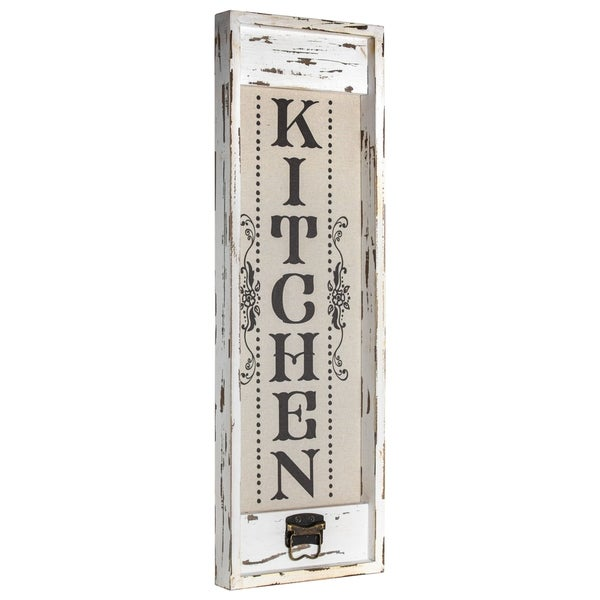 American Art Decor Rustic Wood Canvas Sign Kitchen