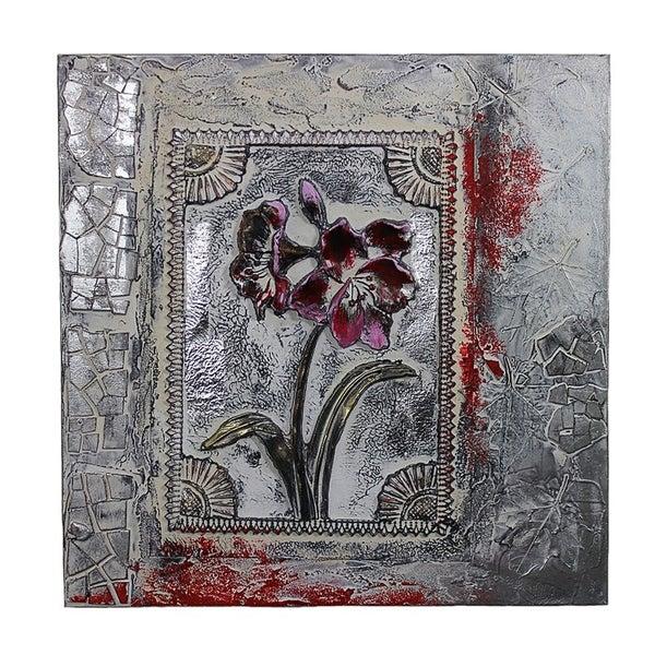 Essential Decor & Beyond 'Framed Flower' Oil Painting EN40692 - White