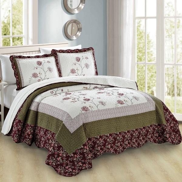 Serenta Dorset 3 Piece Bedspread Quilts Set