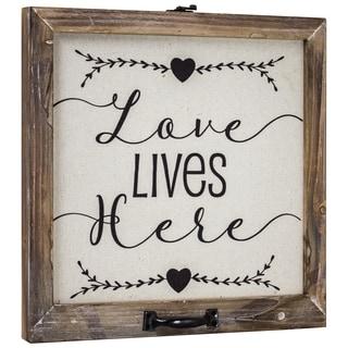 American Art Decor Love Lives Here Canvas Art sign