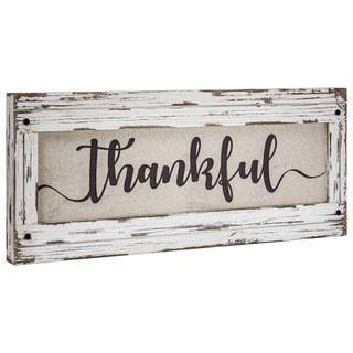 American Art Decor Thankful Canvas Art Sign