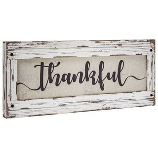 American Art Decor Thankful Canvas Art Sign