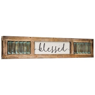 American Art Decor Blessed Inspirational Wood Canvas Art