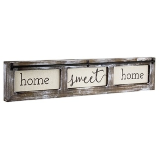 American Art Decor Home Sweet Home Rustic Wood Sign