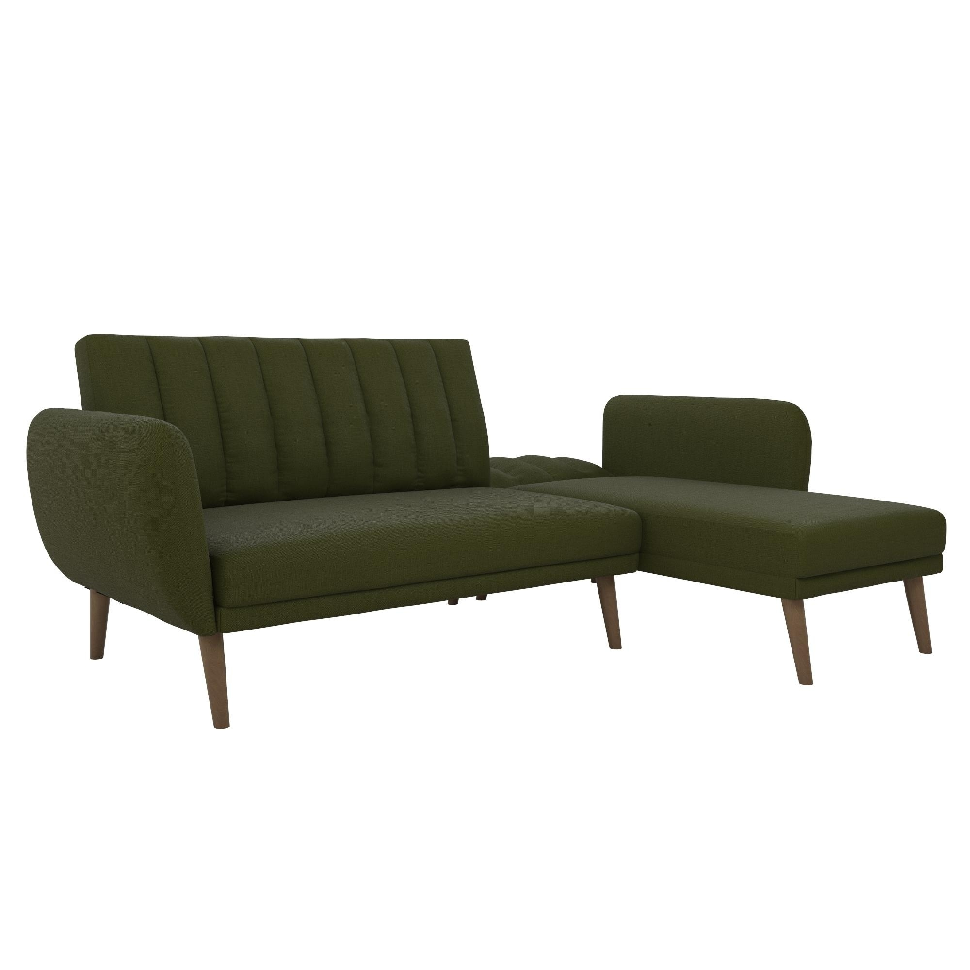 buy popular 4f654 068c6 Novogratz Brittany Sectional Futon Sofa