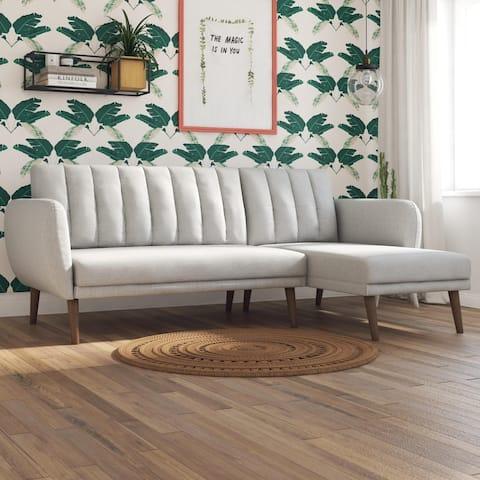 Novogratz Brittany Sectional Futon Sofa