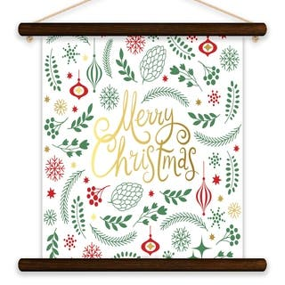 Merry Christmas Banner Printed Canvas Banner