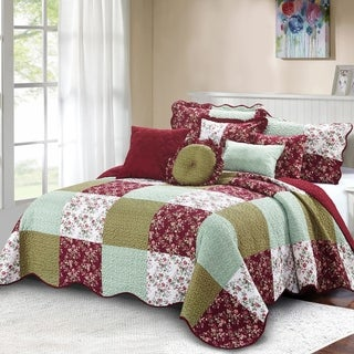 Serenta 8 Piece Quilted Patchwork Bedspread Set