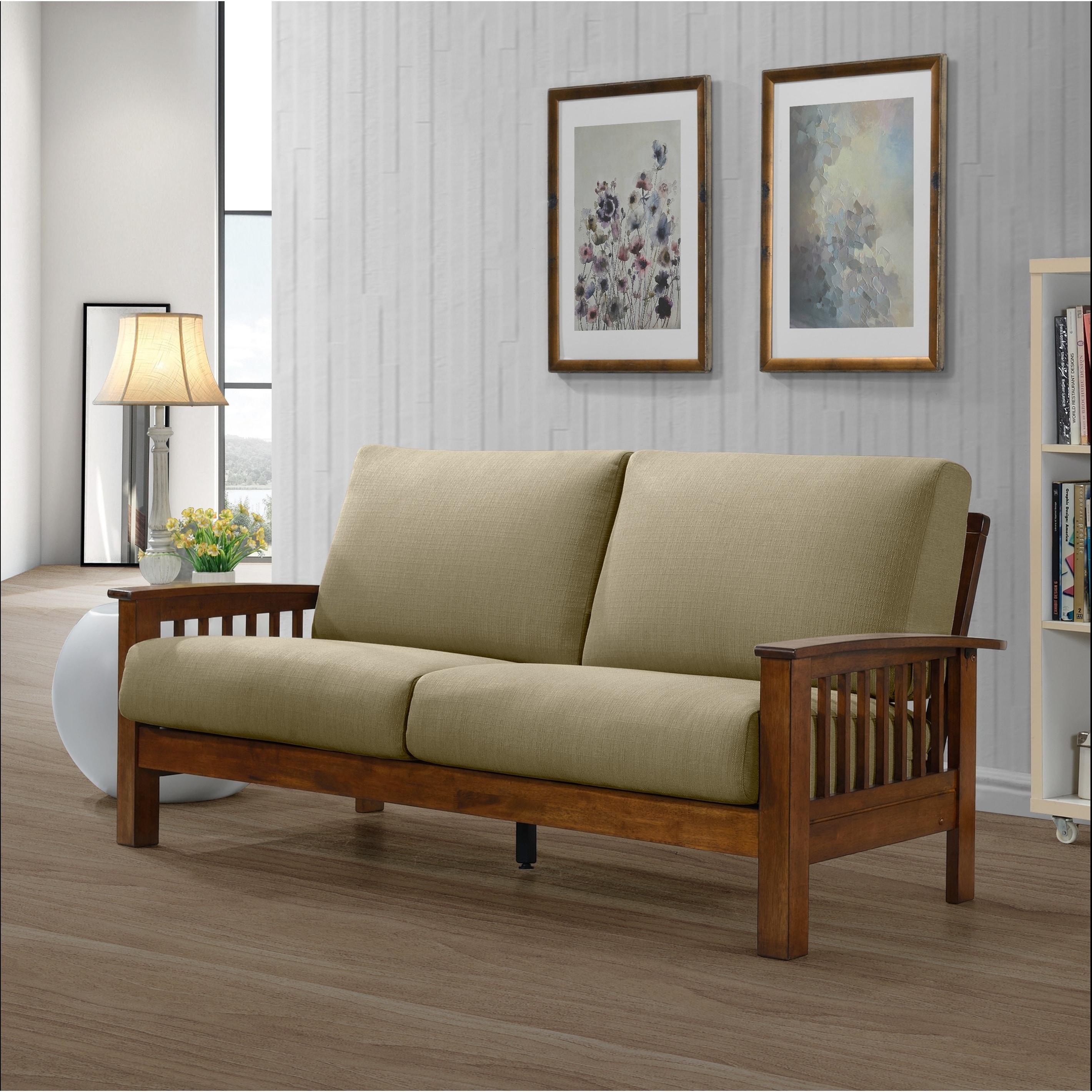 Mid Century Mission Style Sofa