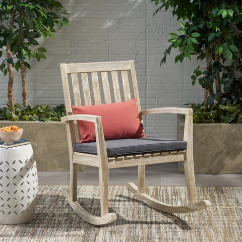 Montrose Traditional Outdoor Acacia Wood Rocking Chair by Christopher Knight Home