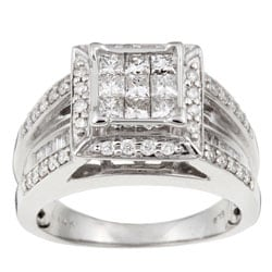 14k Gold 1ct TDW Princess Diamond Ring (H-I, I2)