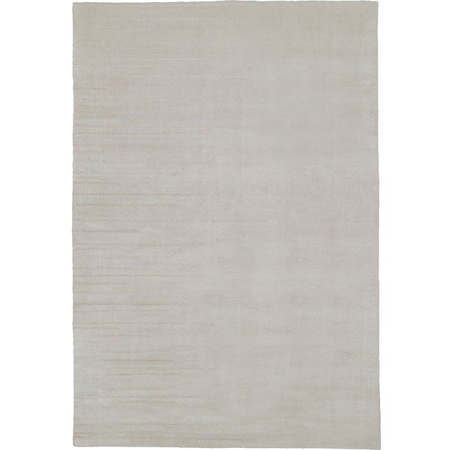 Nourison Grey Wool/Silk Rug (5'6 x 8')