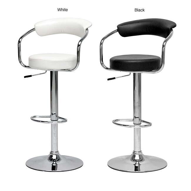 Shop White Omicron Adjustable Bar Stools Set Of 2 Free