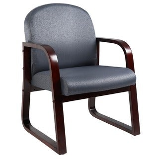 contemporary reception area chairs. boss sled base mahogany wood reception chair contemporary area chairs s