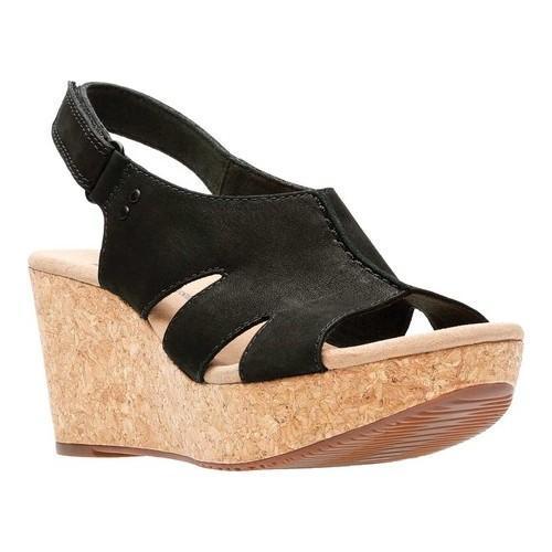 19e659c6fc3 Shop Women s Clarks Annadel Bari Slingback Black Nubuck - On Sale - Free  Shipping Today - Overstock - 20702426