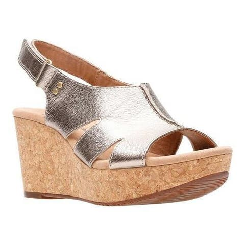 7839415bf4b Women s Clarks Annadel Bari Slingback Gold Metal Leather