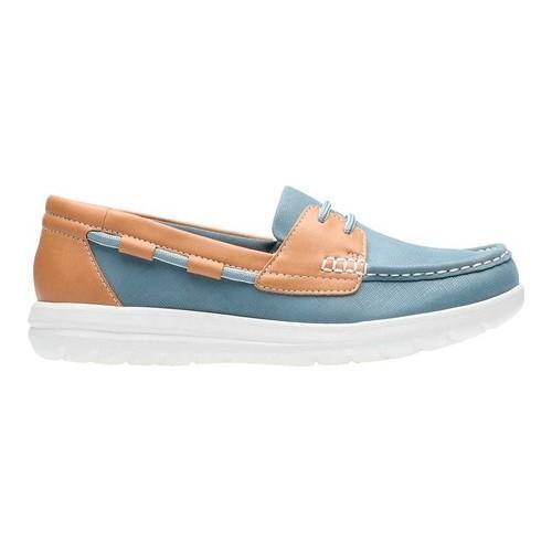 42ca026e24d7 Shop Women s Clarks Jocolin Vista Boat Shoe Blue Grey Synthetic - Free  Shipping Today - Overstock - 20702496