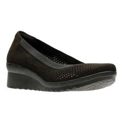Women's Clarks Caddell Trail Pump Black Textile (More options available)