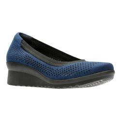 Women's Clarks Caddell Trail Pump Navy Textile (More options available)