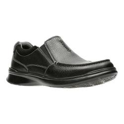 Men's Clarks Cotrell Free Moc Toe Shoe Black Oily Leather