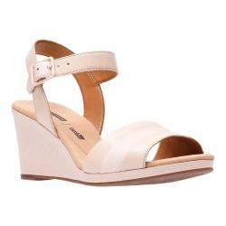a8a6b5db94f Shop Women s Clarks Lafley Aletha Wedge Sandal Dusty Pink Leather ...