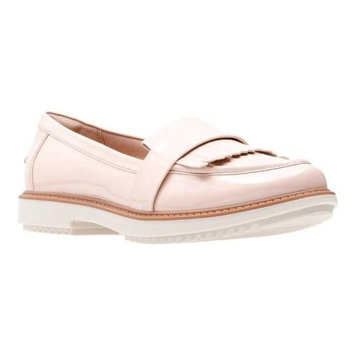 b7375f27393 Shop Women s Clarks Raisie Theresa Loafer Dusty Pink Synthetic Patent -  Free Shipping Today - Overstock - 20702525