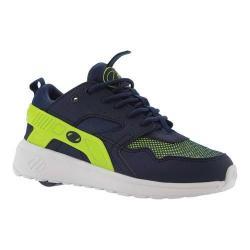 Children's Heelys Force Roller Shoe Navy/Neon Yellow