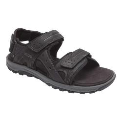 Men's Rockport Trail Technique Adjustable Sandal Black Leather