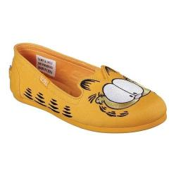 Women's Skechers BOBS Plush Catnip Fever Flat Orange