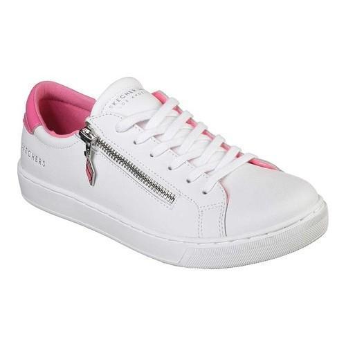 27e182d10fdb Shop Women s Skechers Prima Slip N Zip Sneaker White Hot Pink - Free  Shipping Today - Overstock - 20713986