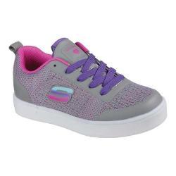Girls' Skechers S Lights Energy Lights Ritzy Knits Sneaker Gray/Multi